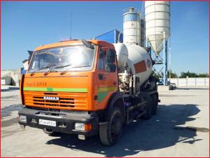 Доставка бетона миксером КАМАЗ
